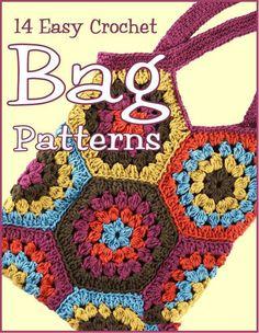 14 Easy Crochet Bag Patterns - 轻描淡写 - 轻描淡写