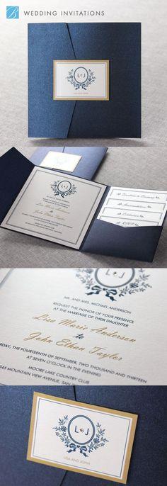 Wedding Invitation Wording - Word the perfect wedding invite! Formal Wedding Invitations, Wedding Invitation Wording, Wedding Stationary, Invitation Ideas, Elegant Invitations, Pocket Invitation, Invitation Layout, Pocketfold Invitations, Quinceanera Invitations