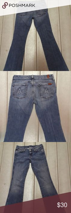 "7 For All Mankind 29x33 Women's Jeans Fade Flare 7 For All Mankind 29x33 Women's Jeans Fade Flare Cotton Blend Boot.  Pre-owned :  Seller Notes:	""excellent preowned condition"" 7 For All Mankind Jeans Boot Cut"