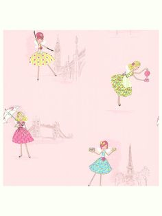 Cute wallpaper! Fairy Tea Time Wallpaper on Gilt today