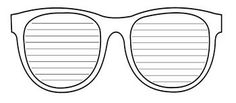 sunglasses template for writing - Google Search