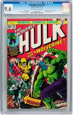 The Incredible Hulk #181 (Marvel, 1974) CGC NM+ 9.6 Off-white to  white pages....