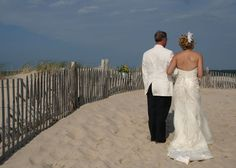 Beach Wedding at Delaware Seashore State Park