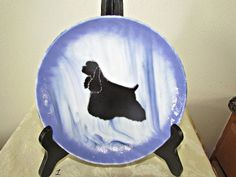 Black Cocker Spaniel FUSED GLASS BOWL Unique by MouseJrsPlace, $38.00