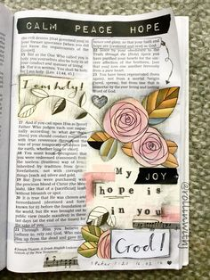 Such a beautiful page! Click through to see the Bible journalling stuff available on Cheerfully Given