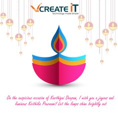 VCreate IT - wishes you happy a #Happy #Karthigai #Deepam #KarthigaiDeepam
