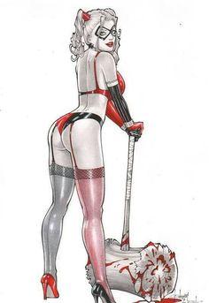 Harley Quinn #batman #pinup