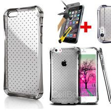 Air Case Clear Cover For iPhone 6 6s Free Tempered Glass Screen