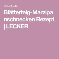 Blätterteig-Marzipanschnecken Rezept | LECKER