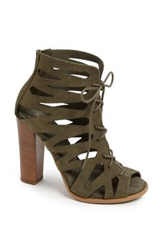 Army green cut out booties - So cute and only $88!!