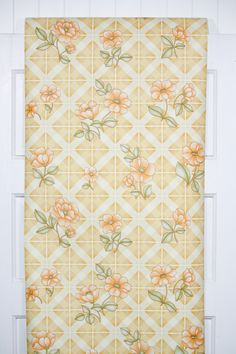 gorgeous retro wallpaper from the 1970s available in our Etsy store Retro Wallpaper, Retro Floral, Orange Flowers, Different Patterns, Etsy Store, 1970s, Quilts, Yellow, Yards