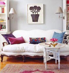 EN MI ESPACIO VITAL: Muebles Recuperados y Decoración Vintage: Un sofá francés recuperado y muy vintage { A vintage french sofa }