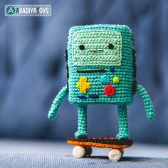 BMO (Adventure time) amigurumi crochet pattern by AradiyaToys