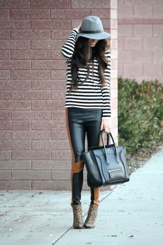 leather   stripes