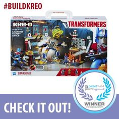 Check out the awesome K-REO @Transformers building set! Absolutely amazing.   #BuildKreo   Share this amazing PTPA Seal of Approval Winner!