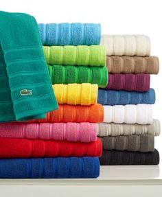 Lacoste Croc Solid Bath Towel Collection