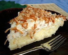 Ingredients  1 9-inch baked pie crust  2/3 cup sugar  1/3 cup cornstarch  2 tablespoons all-purpose flour  1/4 teaspoon salt  3 eggs  3 cups milk  1 tablespoon butter  2 teaspoons vanilla extract  1 1/4 cups sweetened flaked coconut  Directions  In medium saucepan, stir together sugar, cornstarch, flour and