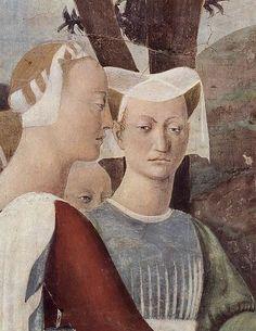 Piero della Francesca - Salomone e la Regina di Saba (Detail) Renaissance Kunst, Renaissance Artists, Renaissance Paintings, Italian Renaissance, Michelangelo, Italian Painters, Italian Artist, Giorgio Vasari, Blood Art