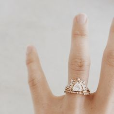 Trillion diamond stack | Natalie Marie Jewellery