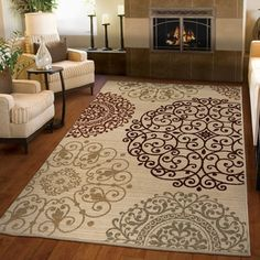 Shop for Carolina Weavers Ornate Expressions Collection Shifting Scrolls Ivory Area Rug (5'3 x 7'6). Get free shipping at Overstock.com - Your Online Home Decor Outlet Store! Get 5% in rewards with Club O!