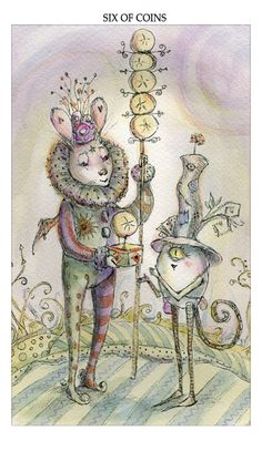This Card also highlights who your real friends are and it is very important that you recognise and show gratitude. Let them know how much their help means. The Card also turns the light on how good a friend you are.  Make a pledge to do the same for them should they find themselves in difficulty at any stage.  {The Art of Paulina Cassidy, 6 of coins}