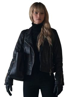 Jennifer Lawrence Red Sparrow, Biker Style, Real Leather, Leather Jacket, My Style, Celebrities, Jackets, Black, Fashion