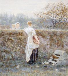 Helen Allingham 'Over the garden wall'