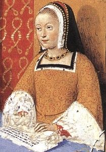"""On January 9th, 1514, Anne of Brittany died, aged 37 years old at the Castle of Blois, France. During her short and eventful life, she had accumulated honors and titles while being faced with sadness and grief at every corner.  Read more in """"Anne of Brittany"""", by Yann Kergourlay: http://www.theanneboleynfiles.com/anne-brittany/"""