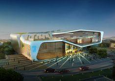 Health & Sports Education Center of Kang-won National University / Idea Image Institute of Architects 3DRender