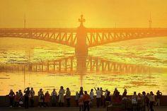 Необычный ракурс Троицкого моста.    Автор фото: Александр Петросян (Petrosphotos).