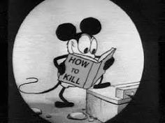 "One of the dorky things I know: Steamboat Willy was not Mickey Mouse's first cartoon. It was only the first one to be released. There were two silent MIckey cartoons produced before it. Including ""Plane Crazy,"" which this image is taken from. Vintage Cartoon, Vintage Comics, Vintage Mickey, Cartoon Fun, Cartoon Design, Illuminati, Anim Gif, Animated Gif, Poor Unfortunate Souls"