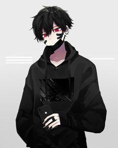 Anime Boy Demon, Demon Manga, Dark Anime Guys, Cool Anime Guys, Hot Anime Boy, Handsome Anime Guys, Cute Anime Character, Character Art, Anime Negra