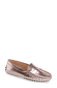 Tods metallic driving moccasin