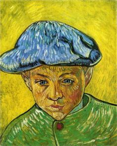 Portrait of Camille Roulin, 1888 Oil on canvas Vincent van Gogh  I saw this painting at Van Gogh Repetitions at the Phillips Collection | Washington DC