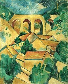 Georges Braque -  Le viaduc à l'Estaque, 1908 - Fauvisme