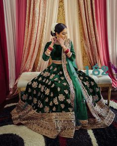 Order #LG182 VELVET with Embroidery work Lehenga CHOLI₹1520 on WhatsApp number +919619659727 or ArtistryC.in Pakistani Lehenga, Indian Bridal Lehenga, Indian Bridal Outfits, Indian Bridal Wear, Pakistani Bridal Dresses, Indian Dresses, Anarkali, Dresses Uk, Bridal Sari