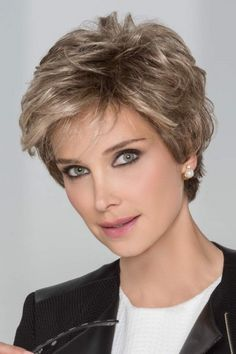 Petite/Average Impulse by Ellen Wille Wigs - Hand Tied, Lace Front, Monofilament Top Wig Short Haircut Styles, Girls Short Haircuts, Short Hairstyles For Women, Bob Hairstyles, Pretty Hairstyles, Perfect Hairstyle, Pixie Haircuts, Beach Hairstyles, Short Grey Hair