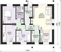 Dom przy Bukowej 21 - Rzut parteru House Plans, Floor Plans, How To Plan, Design, Home, House Floor Plans, Floor Plan Drawing, Home Plans
