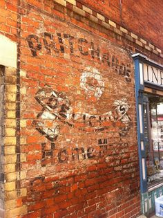 Ghost sign for Pritchard's, Stroud, Gloucestershire #psychogeography