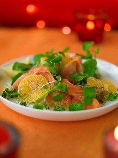 Smoked salmon with clementines salad | Jamie Oliver #recipe #yum