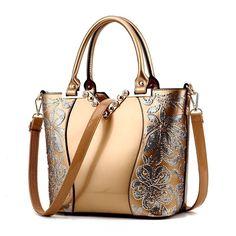 0bc7147a3597 Sequin Embroidery Women Bag Patent Leather Handbag Diamond Shoulder  Messenger Bags