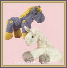 How to Crochet a Horse or Unicorn Toy.  Because with the way the girl is talking I'll need one soon!