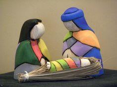 """3"""" Tall Wooden Nativity Set from Ecuador Holy Family Nativity Scene   eBay"""