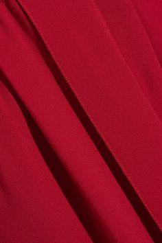 Sonia Rykiel - Pleated Crepe Wide-leg Pants - Red - FR34
