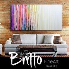 Quadros Abstratos Decorativos 140cm x 70cm QB0107