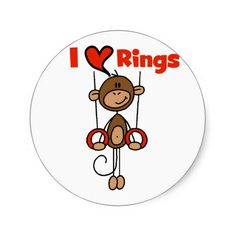 Gymnast Loves Rings Tshirts and Gifts Sticker