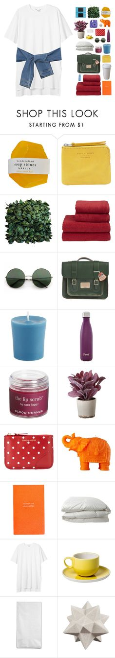 """""""and what's on the other side"""" by via-m ❤ liked on Polyvore featuring Acne Studios, Christy, Dr. Martens, Pier 1 Imports, Fujifilm, S'well, Sara Happ, Torre & Tagus, Comme des Garçons and Mario Luca Giusti"""