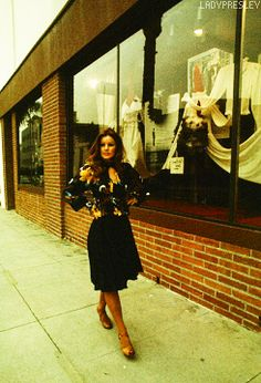 """ladypresley: """" Priscilla Presley at her Bis & Beau boutique shop in Beverly Hills, CA, March 19, 1974. """""""