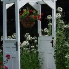 // Vintage doors as alter or garden entrance   Find them at Family Tree Vintage at www.tracyfowler.com to rent for your own party or wedding!