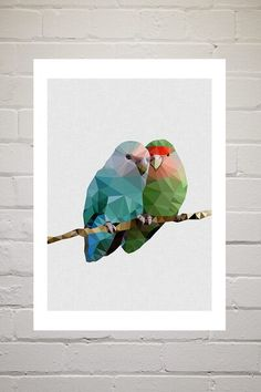 Browse Online and Shop in East London, UK. Bird Prints, Framed Art Prints, Buy Prints Online, Second Love, Cockatoo, Love Birds, Romance, Wall Art, Wallpaper